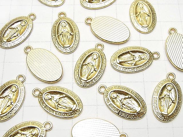 Metal Parts Charm 22x12mm Miraculous Medal Gold 2pcs $1.79!