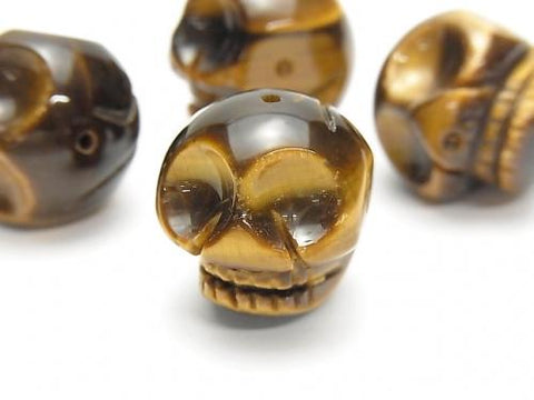 Yellow Tiger Eye AAA- Skull Vertical Hole 20mm 1pc $8.79!
