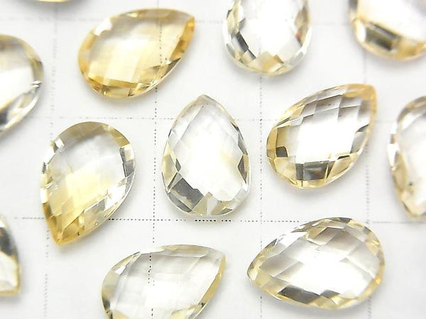[Video] High Quality Light Color Citrine AAA Undrilled Pear shape Cushion Cut 12x8mm 6pcs $7.79!
