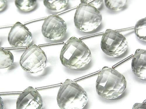 [Video] 1strand $39.99! High Quality Green Amethyst AAA Chestnut Faceted Briolette 1strand (13pcs ).