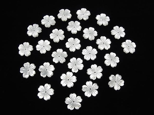 High Quality White Shell AAA Flower 15mm Central Hole 2pcs