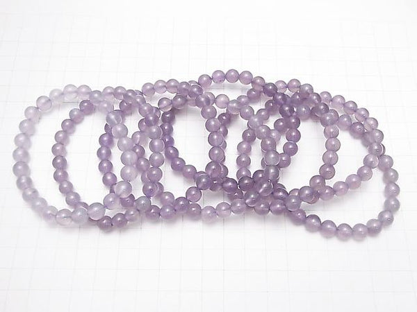 Indonesia Natural Color Purple Chalcedony AAA- Round 7.5mm 1strand (Bracelet)