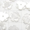 [Video] High Quality White Shell AAA Flower 8mm Center Hole 3pcs