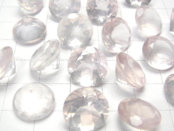 [Video] High Quality Rose Quartz AAA Undrilled Round Faceted 12x12mm 2pcs