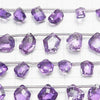 [Video] High Quality Amethyst AAA Fancy Shape Faceted 1strand (8pcs)