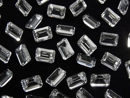 [Video] High Quality White Topaz AAA Undrilled Rectangle Faceted 7x5mm 5pcs