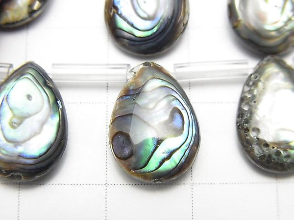 [Video] Abalone Shell Pear shape (Smooth) 14x10mm 1strand (aprx.15inch/38cm)