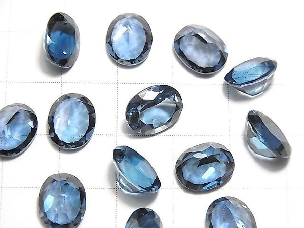 [Video] High Quality London Blue Topaz AAA Undrilled Oval Faceted 10x8mm 1pc
