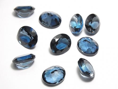 [Video] High Quality London Blue Topaz AAA Undrilled Oval Faceted 11x9mm 1pc