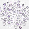 [Video] High Quality Pink Amethyst AAA Round Faceted Cabochon 8x8mm 3pcs