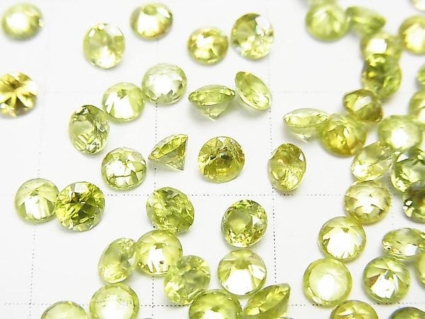 [Video] High Quality Sphene AAA Undrilled Round Faceted 4mm 2pcs