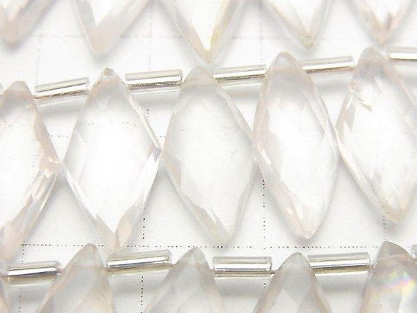 [Video] Rose Quartz AA++ Diamond Shape 1strand (12pcs)