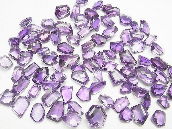 [Video] High Quality Amethyst AAA- Undrilled Fancy Shape Faceted 3pcs