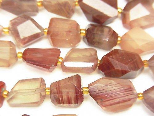 [Video] High Quality! Andesine AAA Faceted Nugget 1strand (aprx.7inch / 18cm)