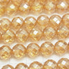 Champagne color Quartz AAA 64Faceted Round 8mm half or 1strand (aprx.15inch / 38cm)