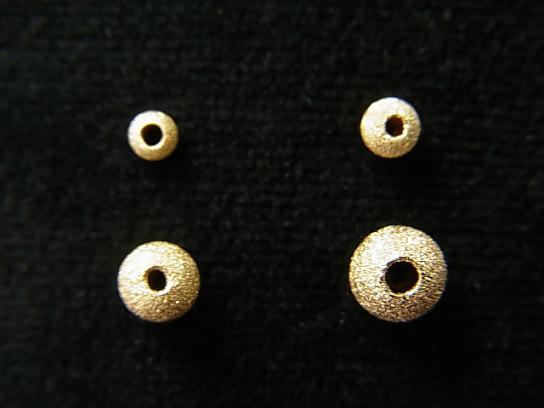 14KGF Stardust Round [2.5 mm] [3 mm] [4 mm] [5 mm] 4 pcs - wholesale gemstone beads, gemstones - kenkengems.com