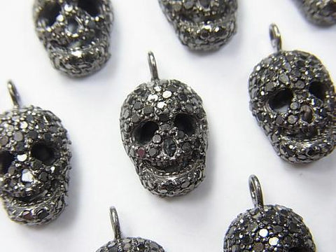 Black Diamond Skull Charm Silver925 1pc $137.99!