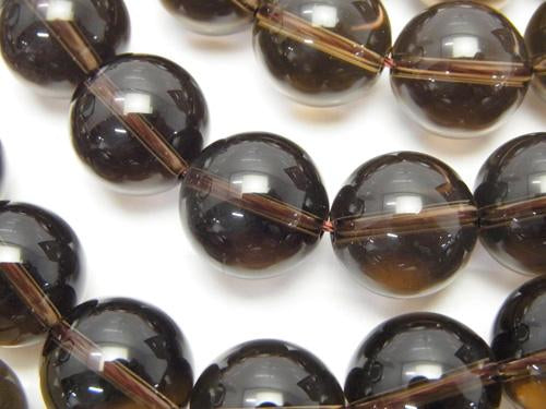 Smoky Crystal Quartz AAA Round 14mm half or 1strand (aprx.15inch/36cm)