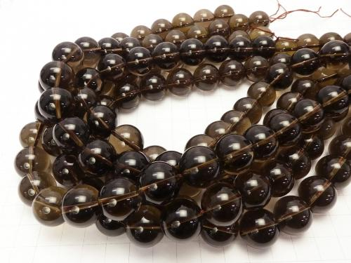 Smoky Crystal Quartz AAA Round 16mm 1/4 or 1strand (aprx.15inch/36cm) - wholesale gemstone beads, gemstones - kenkengems.com