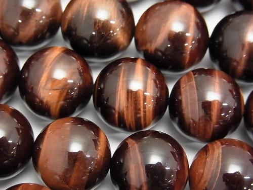 Red Tiger Eye AAA Round 16 mm 1/4 or 1 strand (aprx.15 inch / 37 cm)