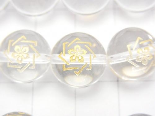 Golden Carving! Ryoma Sakamoto Emblem(KAMON) Crystal AAA Round 10 mm, 12 mm 1/4 or 1strand