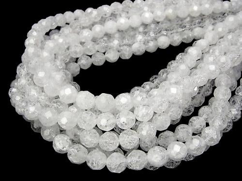 1strand $9.79! Cracked Crystal  32Faceted Round 10mm 1strand (aprx.15inch/38cm)