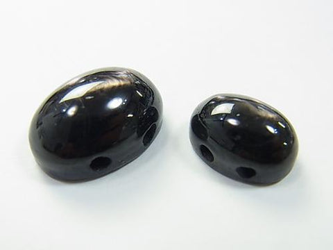 2pcs $3.39Hypersthene [Two holes] Cabochon [14x10] [18x13]