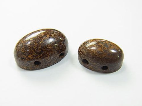 2 pcs $2.39 Bronzite [two holes] Cabochon [14 x 10] [18 x 13] 2 pcs