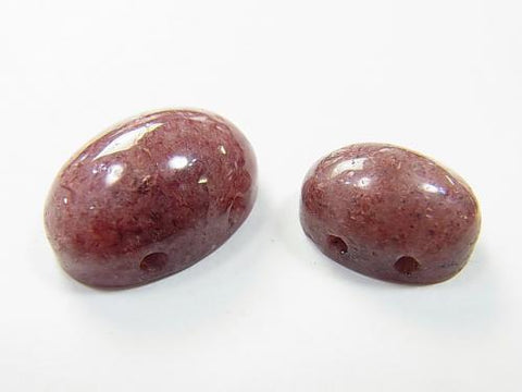 2 pcs $2.39 Moscovite [two holes] Cabochon [14 x 10] [18 x 13]