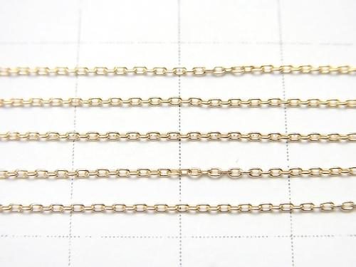 [18K Yellow Gold] Cable Chain Approx 0.8mm width Necklace 1strand