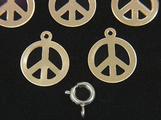 14KGF Charm 13.5 x 11.5 mm piece 1 pc $2.79