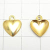 14KGF Charm 12x10mm Heart 1pc $2.19