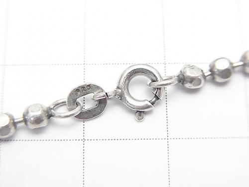 Silver 925 cut ball chain 3 mm Oxidized Finish 1pc $19.99