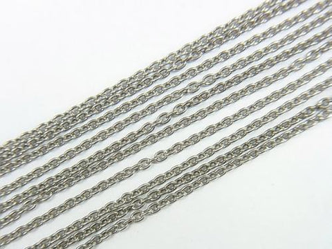 Silver925  Cable Chain 1.5mm Oxidized Finish  1pc $2.79
