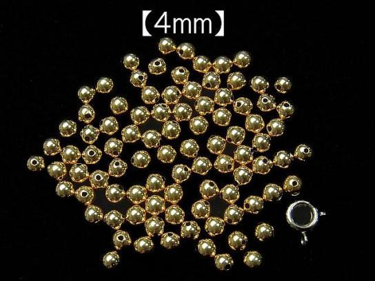 K14 YG Round beads [4 mm] [5 mm] [6 mm] 1 pc $2.19