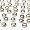 Silver925  Roundel  3mm,5mm No coating  20pcs $2.79