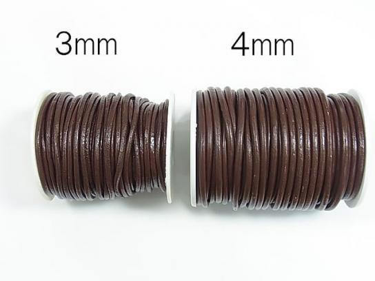 1rool (Approx 20m) Leather Cord Round wire [1mm] [1.5mm] [2mm] [3mm] [4mm] coffee (brown)