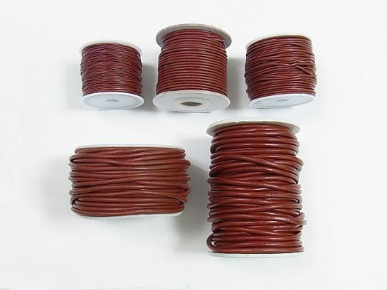 1rool (Approx 20m) Leather Cord Round wire [1mm] [1.5mm] [2mm] [3mm] [4mm] wine red