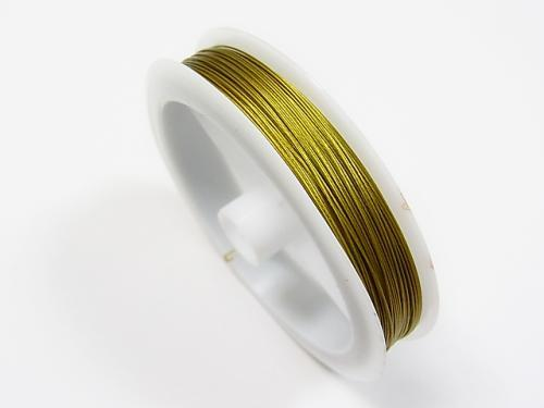 Nylon coated wire gold color 1rool $2.19