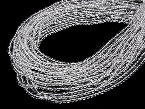 1strand $5.79! Crystal Quartz AAA Round 3mm 1strand (aprx.15inch/38cm)