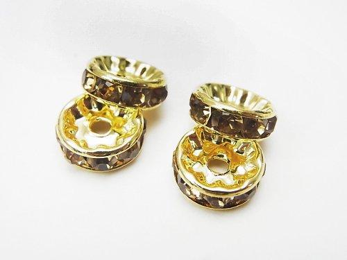 Asfor Roundel [Light Colorado Topaz x Gold] Flat 4-10 mm 100 pcs $9.79