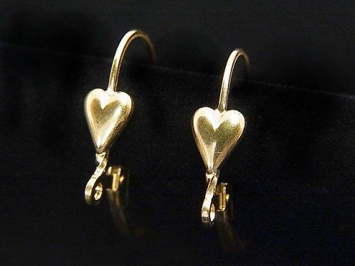 14KGF Earrings French Hook Heart 1pair $7.79!