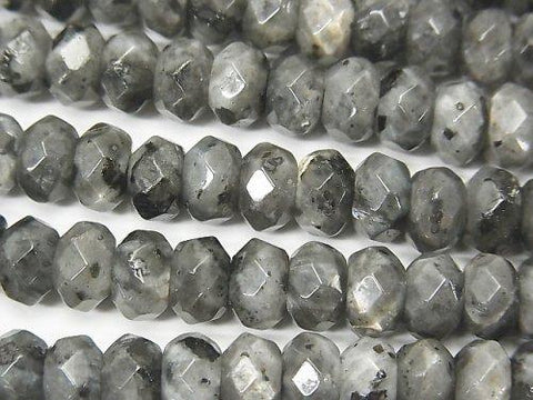 1strand $7.79! Larvikite  Faceted Button Roundel 8x8x5mm 1strand (aprx.15inch/36cm)