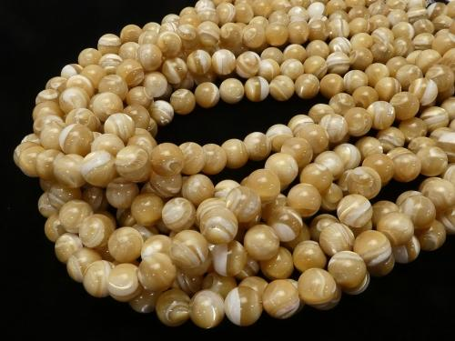 Sale! 1strand $9.79! Mother of Pearl MOP Beige Round 10mm 1strand (aprx.15inch / 38cm)