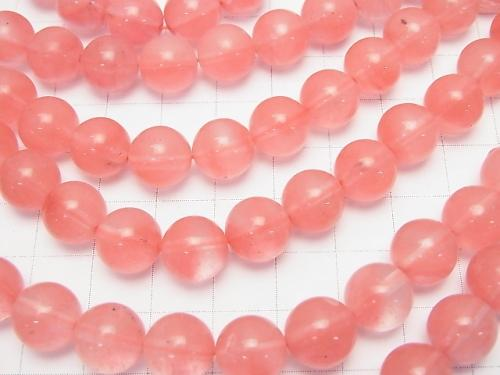 1strand $4.79! Cherry Quartz Glass  Round 10mm 1strand (aprx.15inch/36cm)