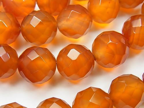 1strand $9.79! Carnelian AAA- 64Faceted Round 12mm 1strand (aprx.15inch/38cm)