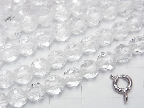 Diamond Cut! Crystal AAA Star Faceted Round 6 mm 1/4 or 1strand (aprx.15 inch / 38 cm)
