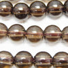 Smoky Crystal Quartz AAA Round 8 mm [2 mm hole] half or 1 strand (aprx.15 inch / 37 cm)