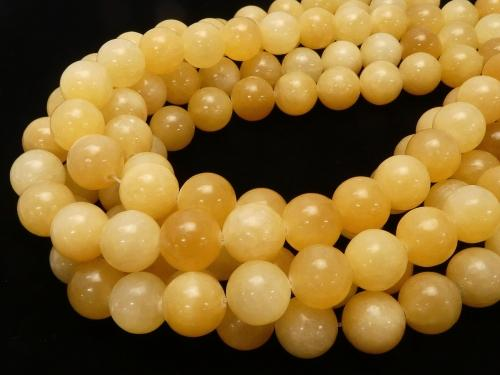 Yellow Jade Round 14mm half or 1strand (aprx.15inch / 38cm)