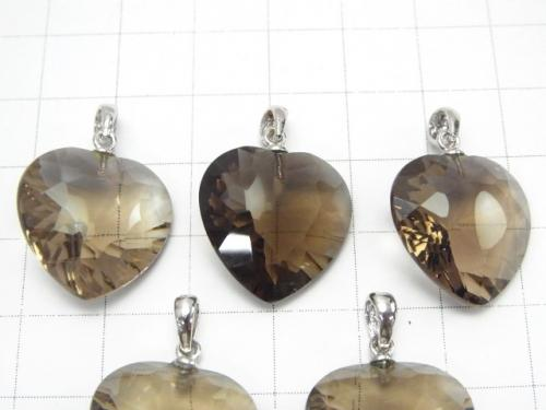1 pc $11.79! High Quality Smoky Crystal Quartz AAA Heart Pendant 18 x 18 x 8 mm 1 pc